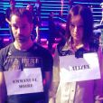 Alizée et Emmanuel Moire en répétitions de l'émission Samedi soir on chante France Gall sur TF1