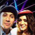 Merwan Rim en photo avec Sofia Essaïdi pendant les répétitions de Samedi soir on chante France Gall