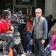 Lambert Wilson sur le tournage du film 5 to 7 au Musée Guggenheim à New York, le 29 mai 2013.