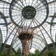 Inauguration de l'exposition L'art du jardin qui a transformé le Grand Palais en serre géante. Photo prise le 30 mai 2013 à Paris.