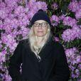 La photographe Dominique Issermann à l'inauguration de l'exposition L'art du jardin qui a transformé le Grand Palais en serre géante. Photo prise le 30 mai 2013 à Paris.