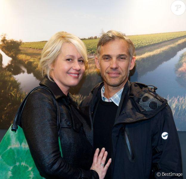 Luana et Paul Belmondo à l'inauguration de l'exposition L'art du jardin qui a transformé le Grand Palais en serre géante. Photo prise le 30 mai 2013 à Paris.