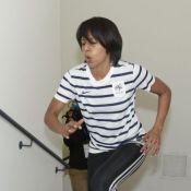 Audrey Pulvar en plein effort : Elle se donne à fond dans les escaliers