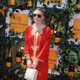 Ashley Olsen en caftan rouge pour la 6e édition du Veuve Clicquot Polo Classic, le 1er juin à Jersey City.