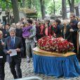 Jean-Louis Debré lors de l'enterrement du constitutionnaliste Guy Carcassonne au cimetière de Montmartre le 3 juin 2013