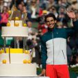 Rafael Nadal a célébré ses 27 ans sur le court Philippe-Chatrier après sa victoire en huitième de finale face à Kei Nishikori à Roland-Garros le 3 juin 2013