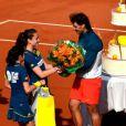 Rafael Nadal et ses 27 ans étaient à l'honneur sur le court Philippe-Chatrier après sa victoire en huitième de finale face à Kei Nishikori à Roland-Garros le 3 juin 2013