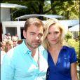 Clovis Cornillac et sa compagne Lilou Fogli à Roland-Garros le 3 juin 2011