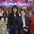 """Victoire Belézy et Raphaël Personnaz  - Enregistrement de l'émission """"Vivement Dimanche"""" à Paris le 4 juin 2013. L'émission sera diffusée le 9 juin sur France 2."""