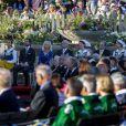 La famille royale de Suède à Skansen le 6 juin 2013 pour la fête nationale. Chris O'Neill, fiancé de la princesse Madeleine, y prenait part.