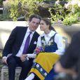 La princesse Madeleine de Suède et son fiancé Chris O'Neill se sont montrés très amoureux lors des célébrations de la Fête nationale à Stockholm, le 6 juin 2013, auxquelles prenaient part le couple royal, la princesse Victoria et le prince Daniel avec la princesse Estelle, et le prince Carl Philip.
