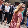 Anne-Sophie Lapix arrive à Roland-Garros, Paris, le 8 juin 2013.