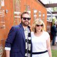 Marilou Berry et son compagnon Arnaud Schneider à Roland-Garros, Paris, le 8 juin 2013.