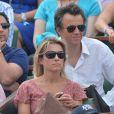 Anne-Sophie Lapix et son mari Arthur Sadoun à Roland-Garros, Paris, le 8 juin 2013.