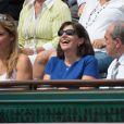 Arantxa Sanchez, Anne Hidalgo et Jean Gachassin à Roland-Garros, Paris, le 8 juin 2013.