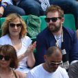 Marilou Berry et Arnaud Schneider pendant la finale dames à Roland-Garros, Paris, le 8 juin 2013.