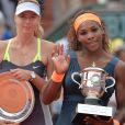 Maria Sharapova, Serena Williams à Roland-Garros, Paris, le 8 juin 2013.