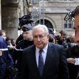 Dominique Strauss-Kahn au tribunal de Paris pour défendre ses intérêts contre Marcela Iacub, le 26 février 2013.