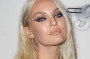 Candice Swanepoel : Audacieuse en blonde platine, la belle surprend