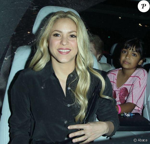 Shakira lors d'une virée au restaurant Yojisan à Los Angeles, le 13 juin 2013.