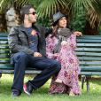 Premières photos de l'actrice Jennifer Love Hewitt, enceinte avec son fiancé Brian Hallisay lors d'une promenade romantique à Florence, le 31 mai 2013. Le couple est parti à la découverte de la ville