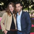 Gwendoline Hamon et Frédéric Diefenthal à la soirée privée Piaget à l'Orangerie Éphémère dans le jardin des Tuileries, le 13 juin 2013