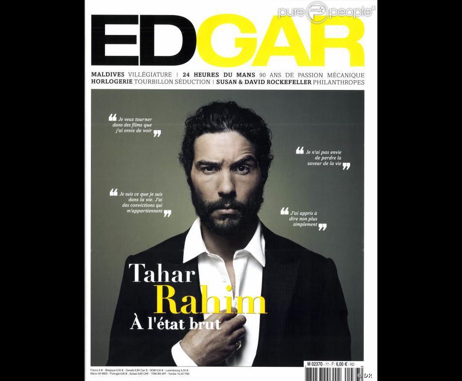 Tahar Rahim, en couverture du magazine Edgar des mois de juin et juillet 2013