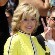 """Jane Fonda à la remise de l'étoile de Jennifer Lopez sur le """"Walk of fame"""", à Hollywood le 20 juin 2013."""