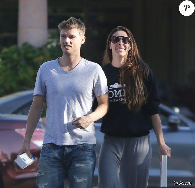 Nick Carter et sa fiancée Lauren Kitt à Los Angeles, le 19 juin 2013.