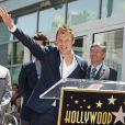 Nick Carter lors de la remise de l'étoile des Backstreet Boys à Hollywood, le 22 avril 2013.