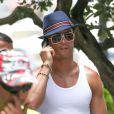 Cristiano Ronaldo en vacances à Miami le 14 juin 2013.