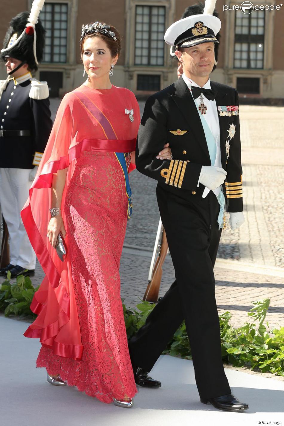 La princesse Mary et le prince Frederik de Danemark à Stockholm, le 8 juin 2013.