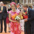 Le reine Maxima des Pays-Bas en visite dans la région de Flevoland aux Pays-Bas, le 19 juin 2013.