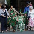 Enfants d'honneurs lors du mariage de Lady Melissa Percy, fille du duc de Northumberland, et de Thomas van Straubenzee à Alnwick en Angleterre le 22 juin 2013