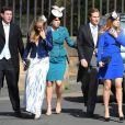 Cressida Bonas, petite-amie du prince Harry et Béatrice et Eugenie d'York lors du mariage de Lady Melissa Percy, fille du duc de Northumberland, et de Thomas van Straubenzee à Alnwick en Angleterre le 22 juin 2013