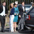 Cressida Bonas (petite amie du prince Harry), la princesse Eugenie d'York, la princesse Beatrice d'York et son petit ami Dave Clark lors du mariage de Lady Melissa Percy, fille du duc de Northumberland, et de Thomas van Straubenzee à Alnwick en Angleterre le 22 juin 2013