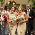 Chelsy Davy, demoiselle d'honneur et ex petite-amie du prince Harry, lors du mariage de Lady Melissa Percy, fille du duc de Northumberland, et de Thomas van Straubenzee à Alnwick en Angleterre le 22 juin 2013