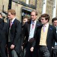 Les princes Harry et William lors du mariage de Lady Melissa Percy, fille du duc de Northumberland, et de Thomas van Straubenzee à Alnwick en Angleterre le 22 juin 2013