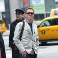 Damian Lewis se promène dans les rues de New York, le 9 mai 2013.