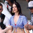 Lana Del Rey sur le tournage de son nouveau clip à Los Angeles, le 30 juin 2013.