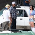Lana Del Rey en plein tournage de son prochain clip à Los Angeles, le 30 juin 2013.