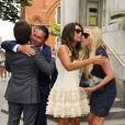 Tamara Ecclestone et son mari Jay Rutland célèbrent leur mariage le 1er juillet 2013 avec Petra Ecclestone et son époux James Stunt