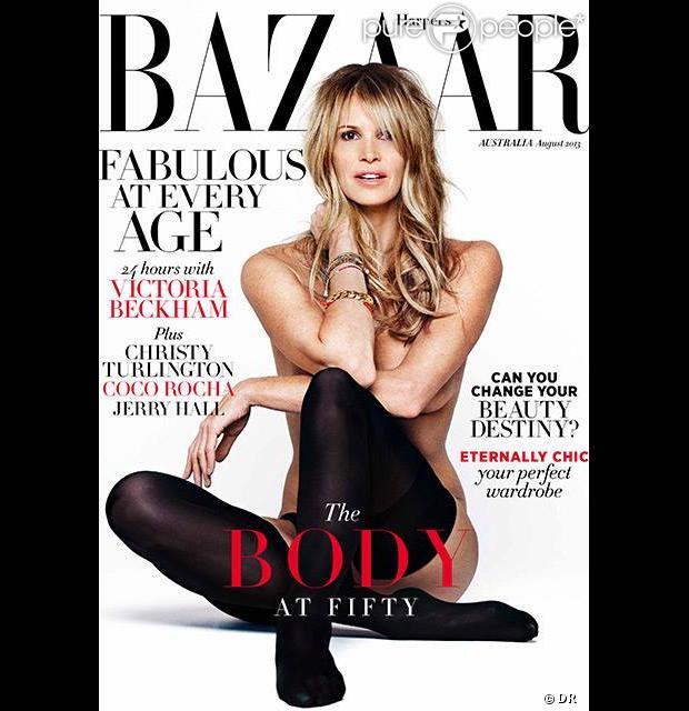 Elle Macpherson photographiée par Bryan Adams pour le numéro d'août 2013 du magazine Harper's Bazaar Australia.