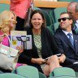 Lindsay Davenport dans la loge royale à Wimbledon au All England Lawn Tennis and Croquet Club le 5 juillet 2013