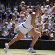 Marion Bartoli lors de sa finale de Wimbledon face à l'Allemande Sabine Lisicki. Londres, le 6 juillet 2013.