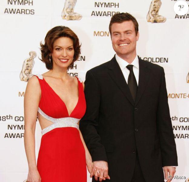 Alana de la Garza et son mari Michael Roberts lors du 48ème festival international de télévision à Monaco en juin 2008