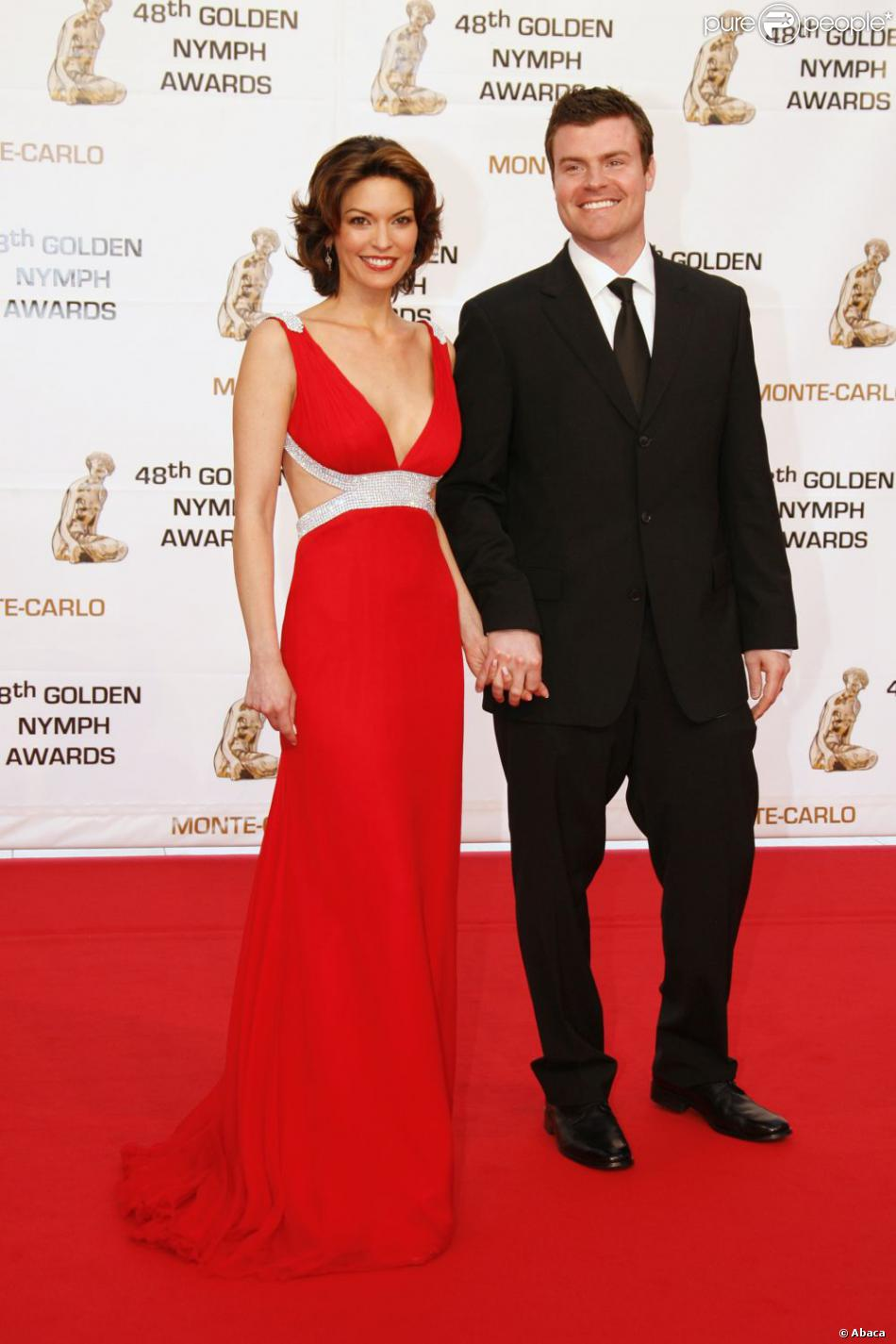 Alana De La Garza with cool, Husband Michael Roberts