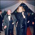 Jean Poiret et sa femme Caroline Cellier lors d'une soirée au Lido en mars 1985