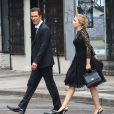 Scarlett Johansson et Matthew McConaughey sur le tournage d'une publicité Dolce & Gabbana dirigée par Martin Scorsese à New York, le 13 juillet 2013.