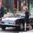 Scarlett Johansson et Matthew McConaughey en route pour un trip sur le tournage d'une publicité Dolce & Gabbana dirigée par Martin Scorsese à New York, le 13 juillet 2013.